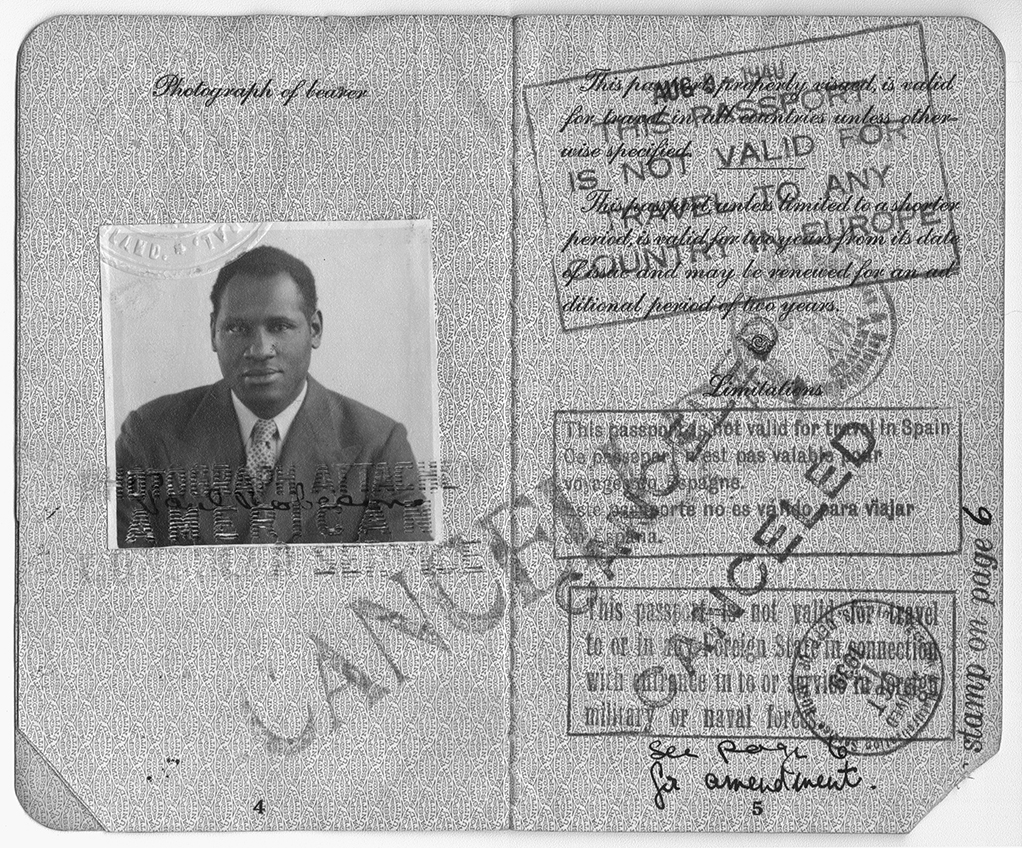 Paul Robeson's Cancelled Passport