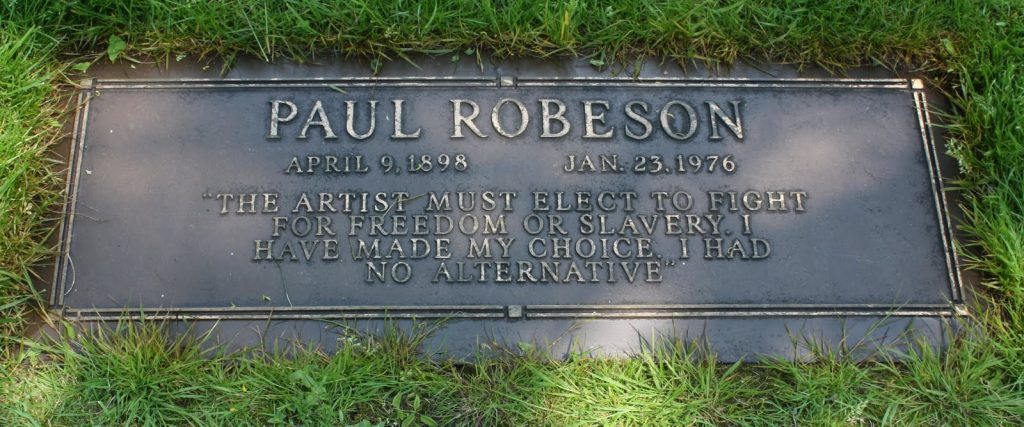 Paul Robeson's grave