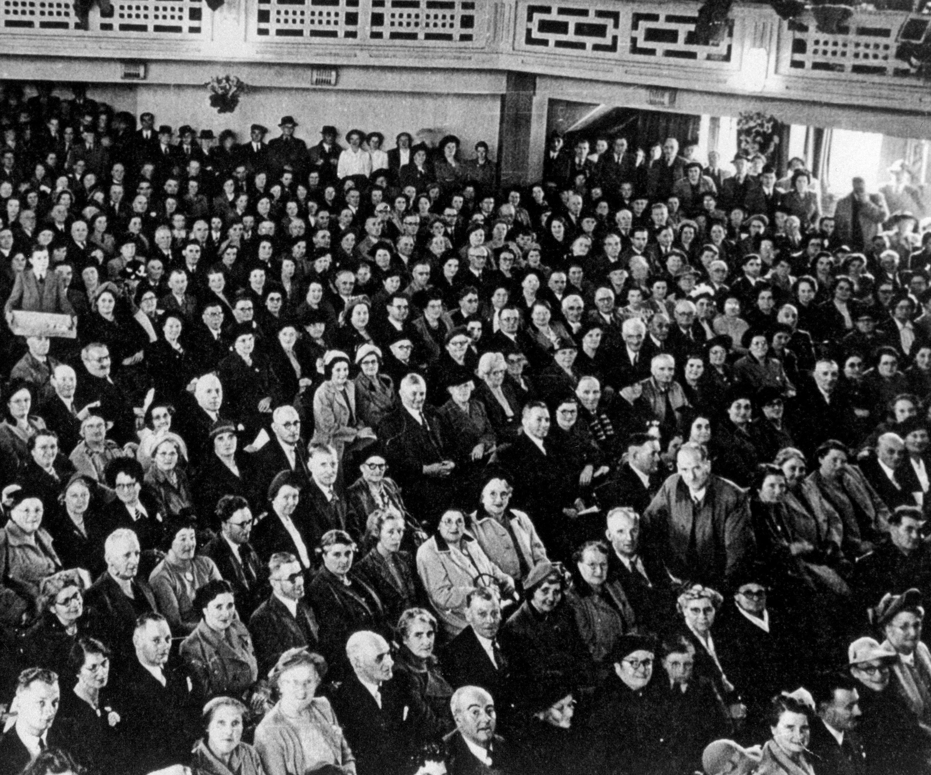 Porthcawl Pavilion audience 1957