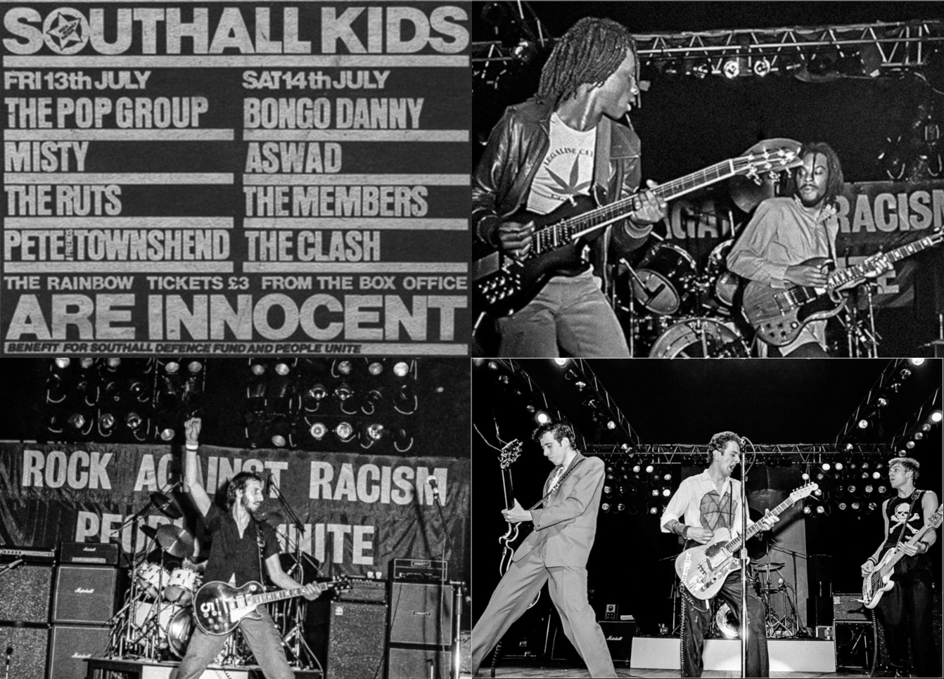 Shouthall Kids Are Innocent: ASWAD, Pete Townshend, The Clash (Ιούλιος 1979)