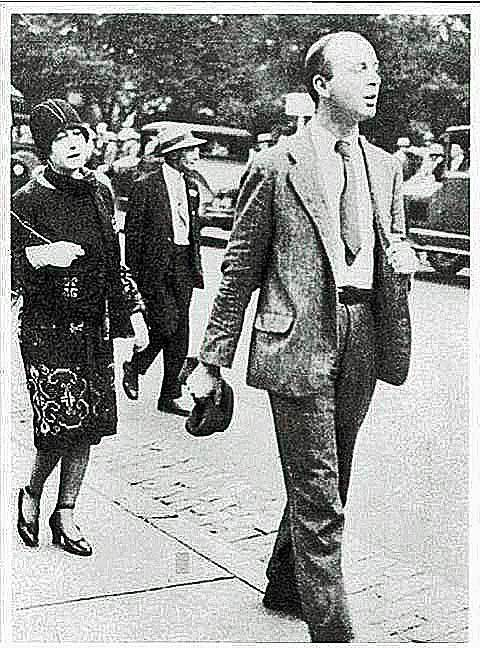 Dorothy Parker and John Dos Passos marching on behalf of Sacco and Vanzetti in Boston.